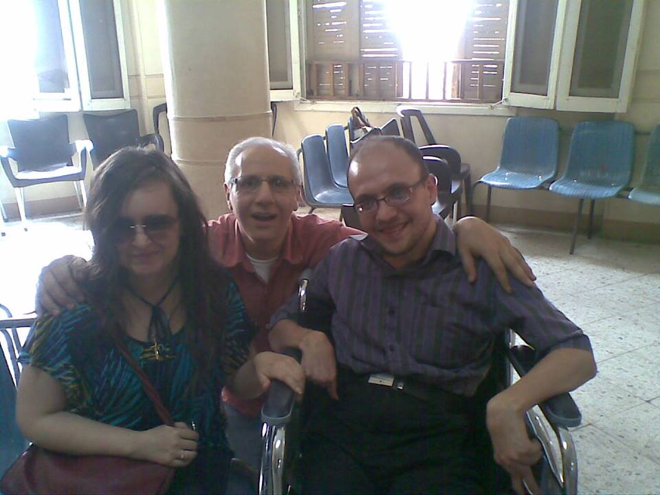 Sylvia and Akmal with Sameh Sabry